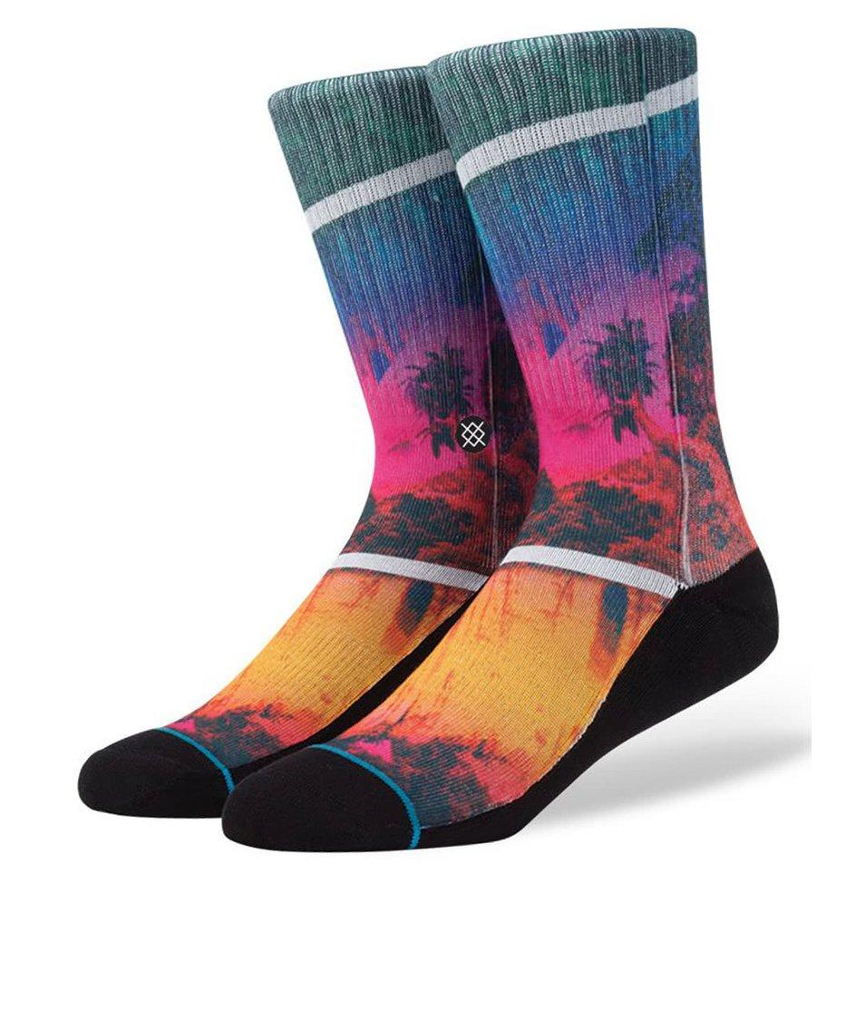 Černé pánské ponožky s barevným vzorem Stance Versus