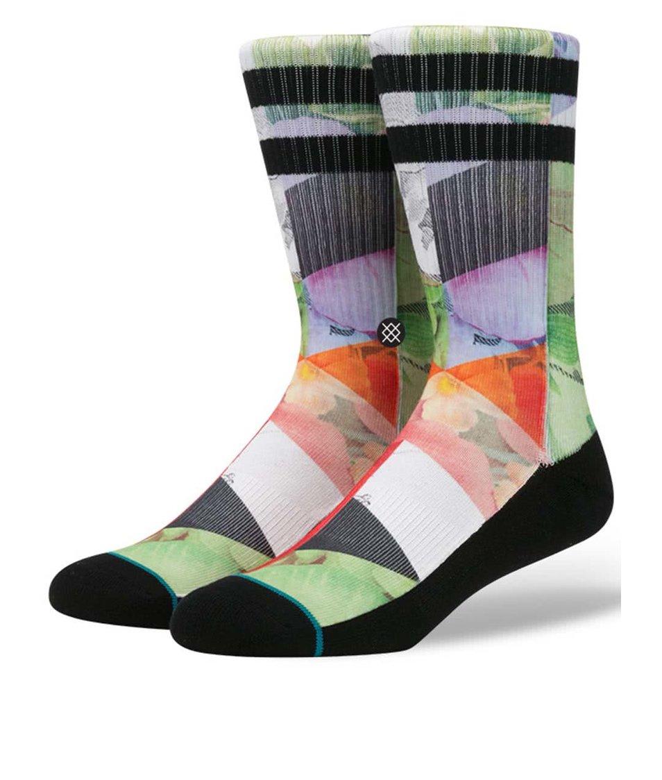 Černo-zelené pánské ponožky s barevným vzorem Stance Free Love