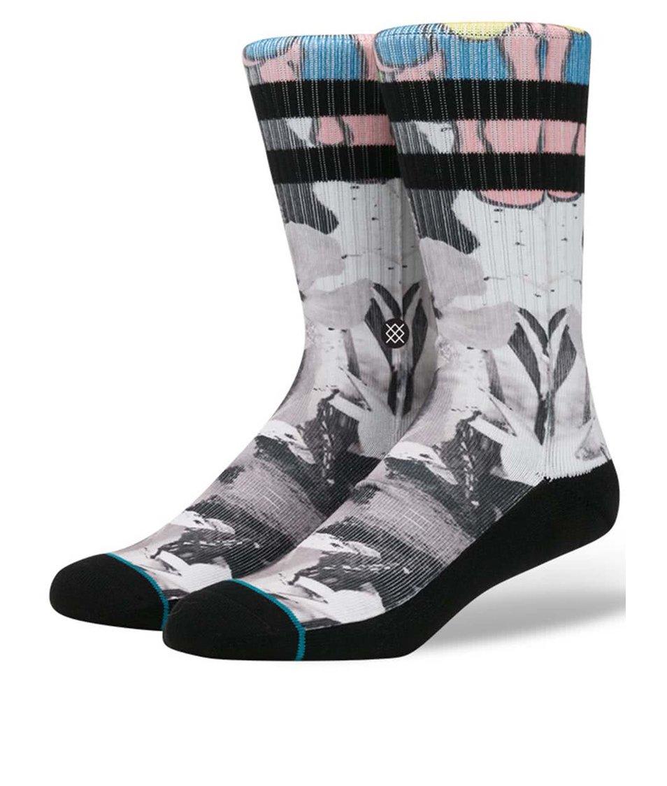 Černo-šedé vzorované ponožky Stance Drone
