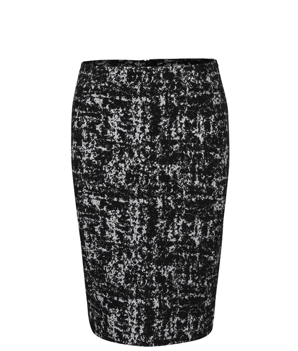 Bílo-černá  vzorovaná sukně Fever London Logan