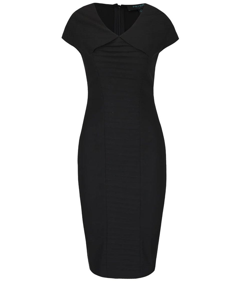 Černé pouzdrové šaty se sklady Fever London Eve
