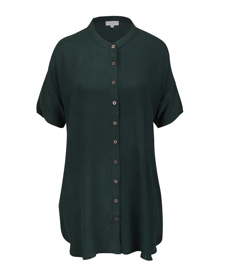 Tmavě zelená košile s krátkým rukávem Apricot