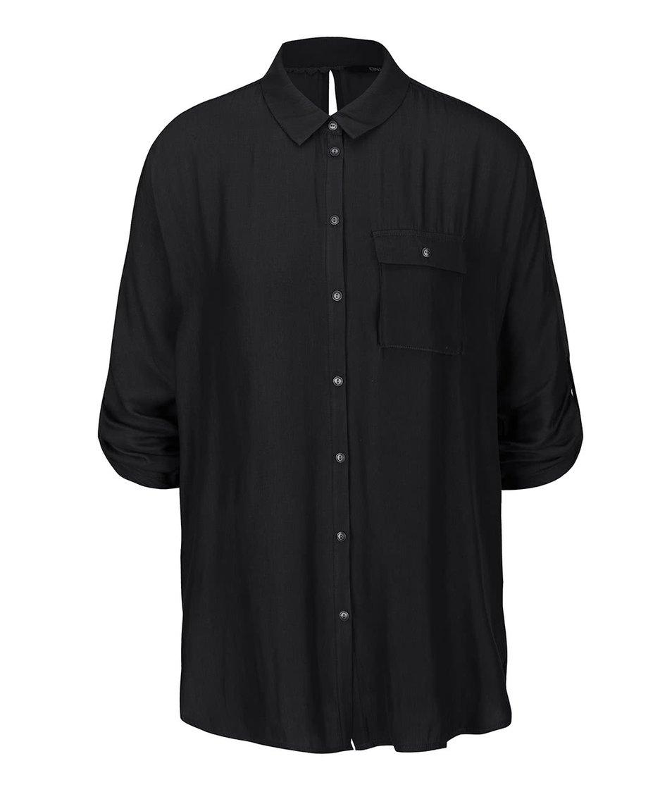Černá košile s kimonovými rukávy ONLY Erin