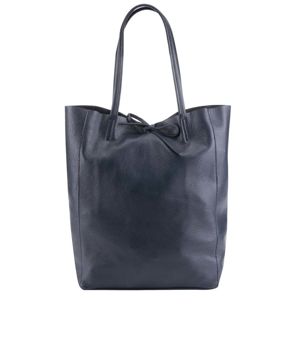 Tmavě modrý kožený shopper ZOOT Simple