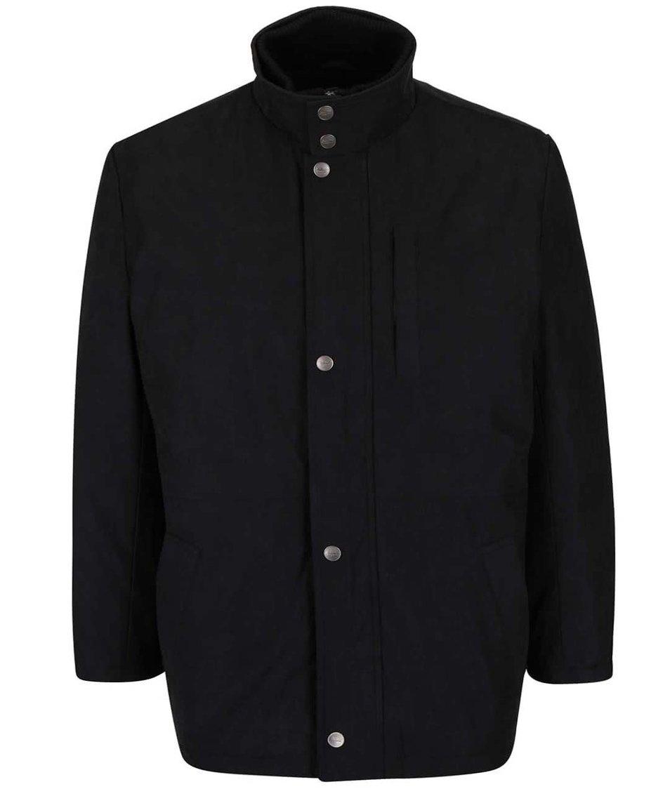 Černá pánská bunda s knoflíky v nadměrné velikosti Seven Seas X-big