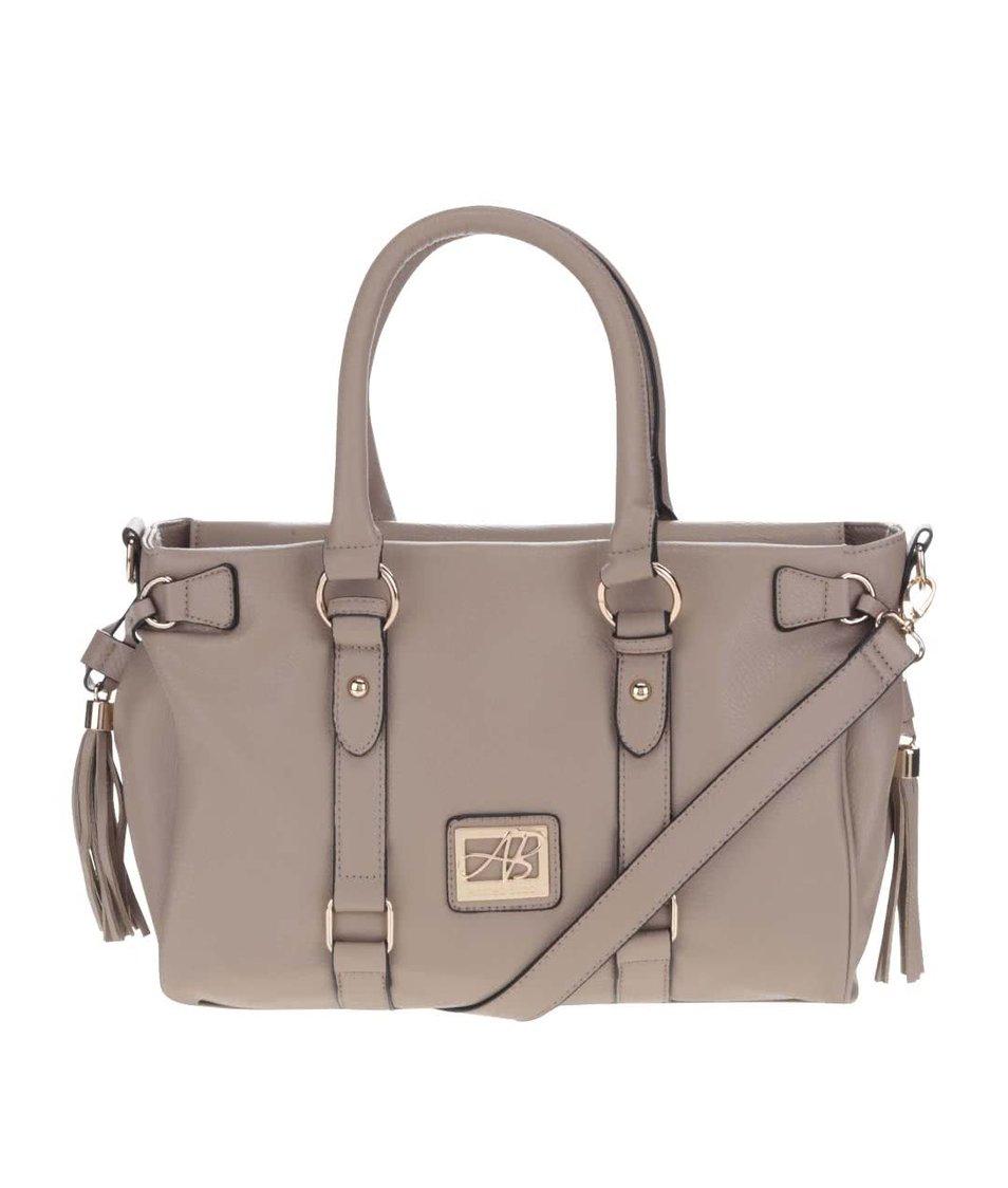 Béžová kabelka s detaily ve zlaté barvě Andrea Bucci