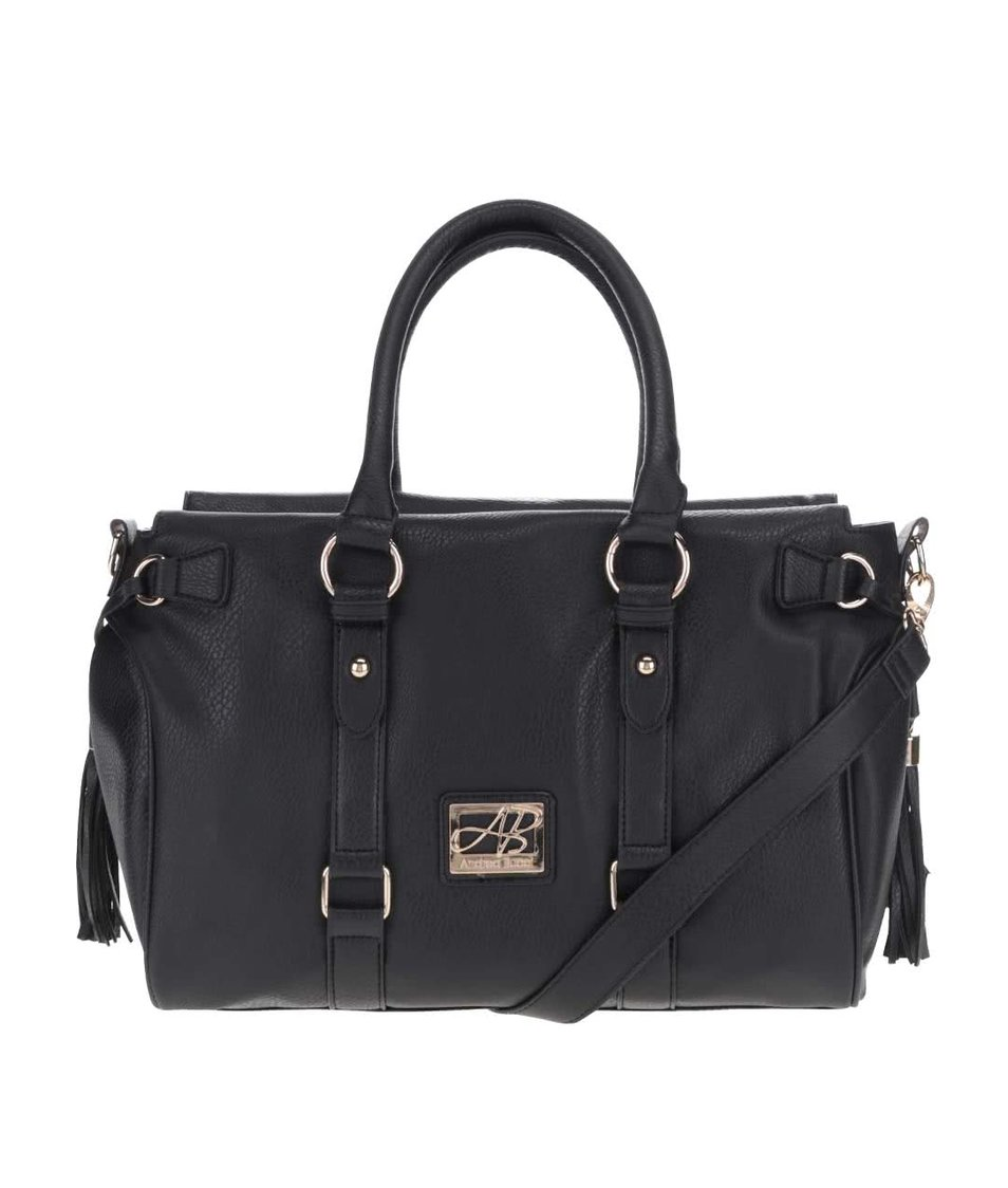 Černá kabelka s detaily ve zlaté barvě Andrea Bucci