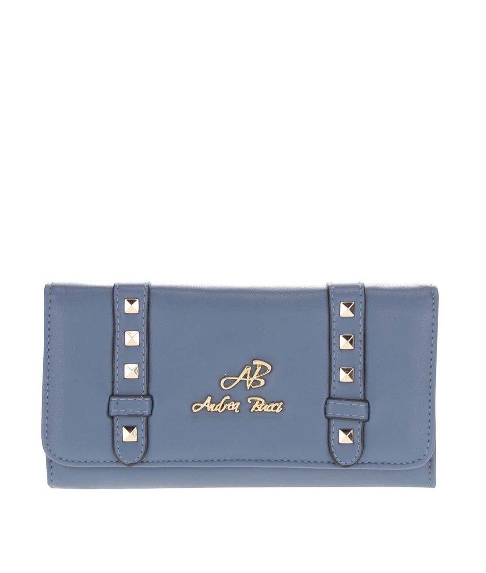 Modrá peněženka s aplikací ve zlaté barvě Andrea Bucci