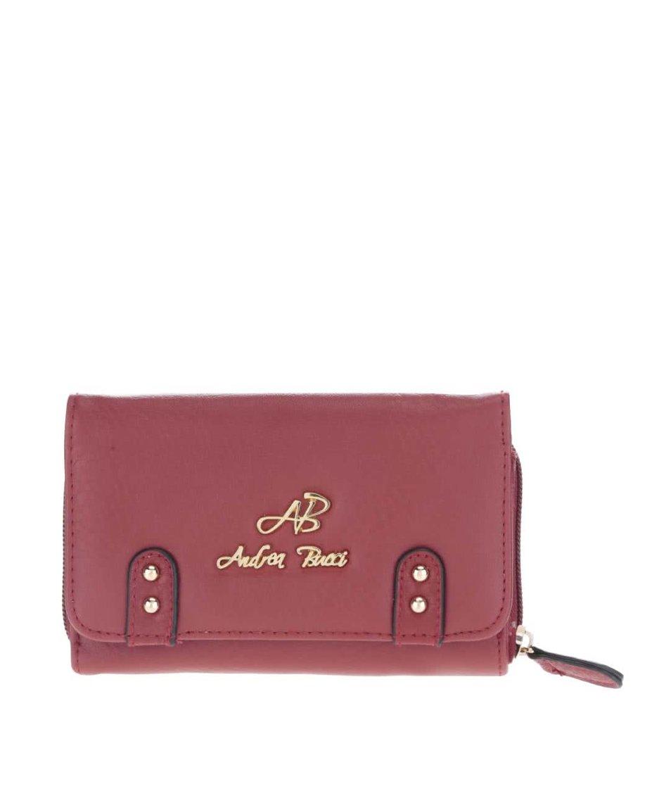 Vínová malá peněženka Andrea Bucci