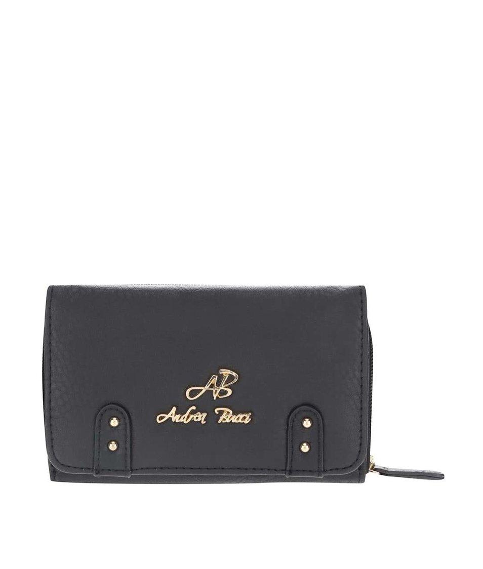 Černá malá peněženka Andrea Bucci