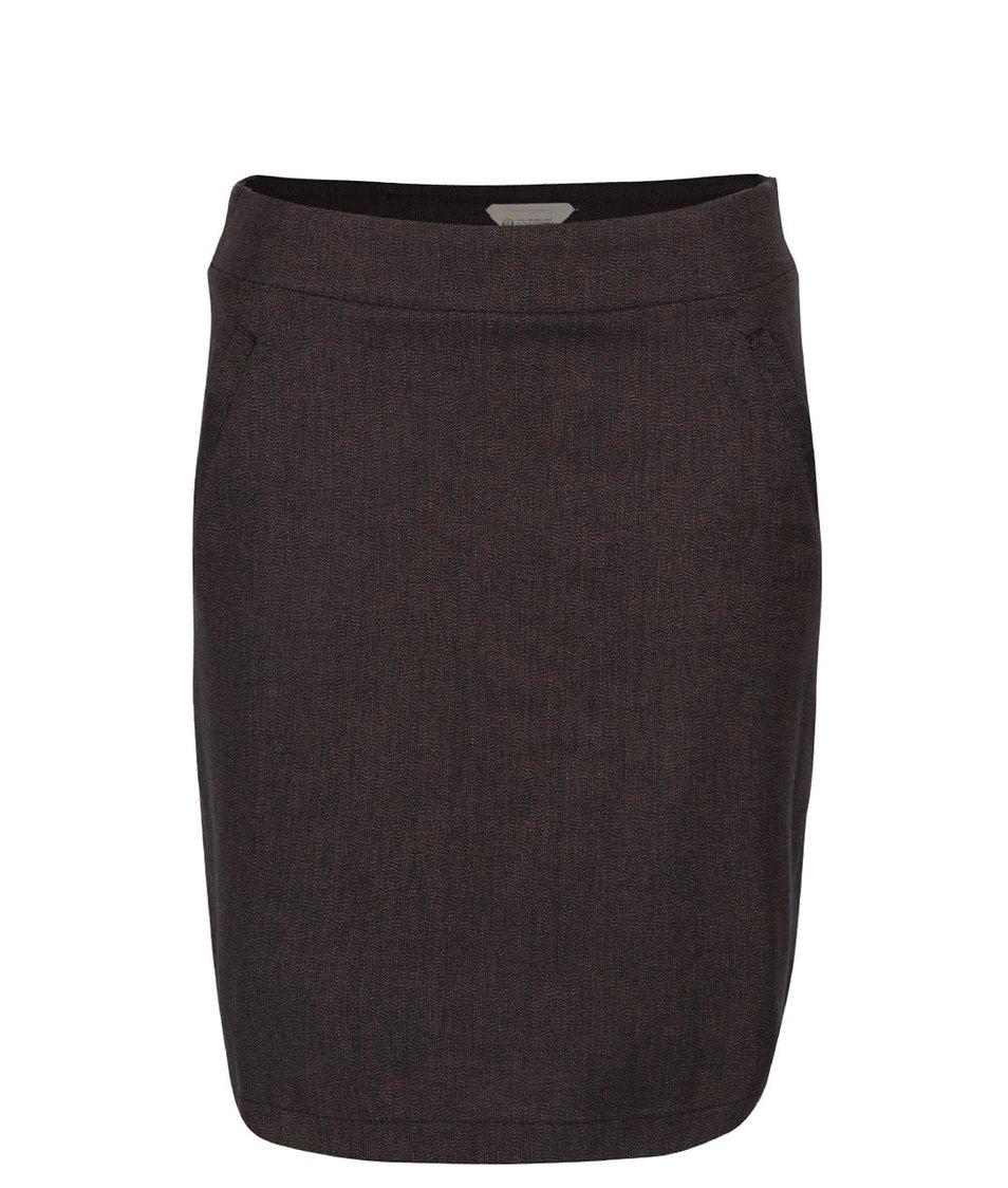 Fialovo-černá sukně s kapsami Skunkfunk Sahar