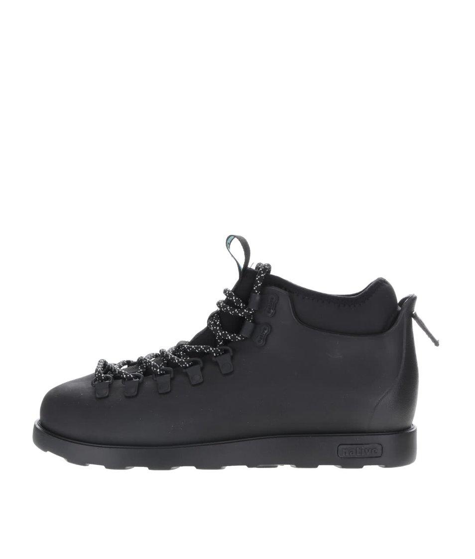 Černé pánské kotníkové boty s vsadkou Fitzsimmons Native