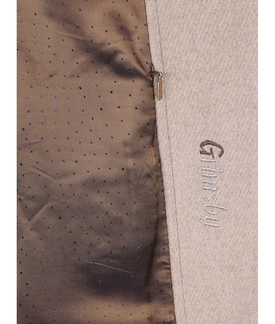 18c9c14ceab Béžový dámský vlněný kabát s kapucí bugatti - SLEVA!