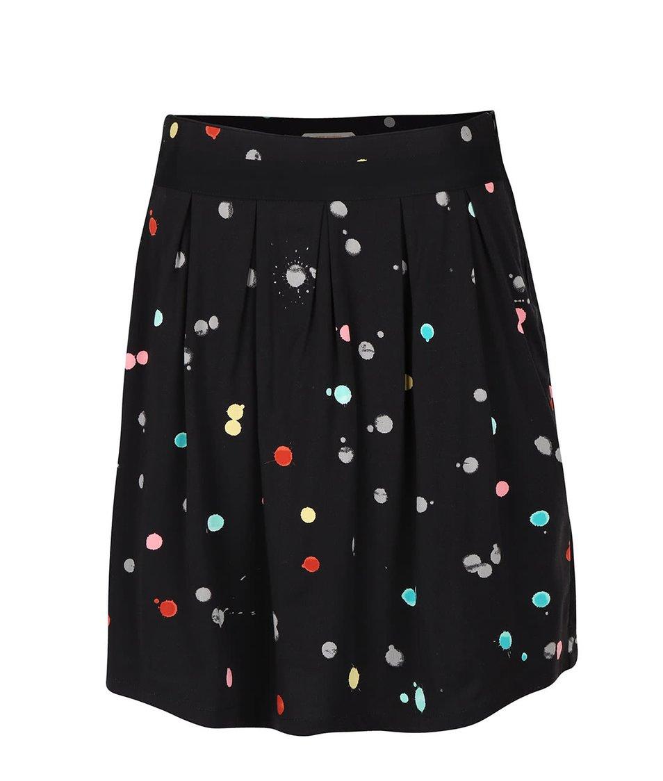 Černá sukně s barevnými puntíky Skunkfunk Libby