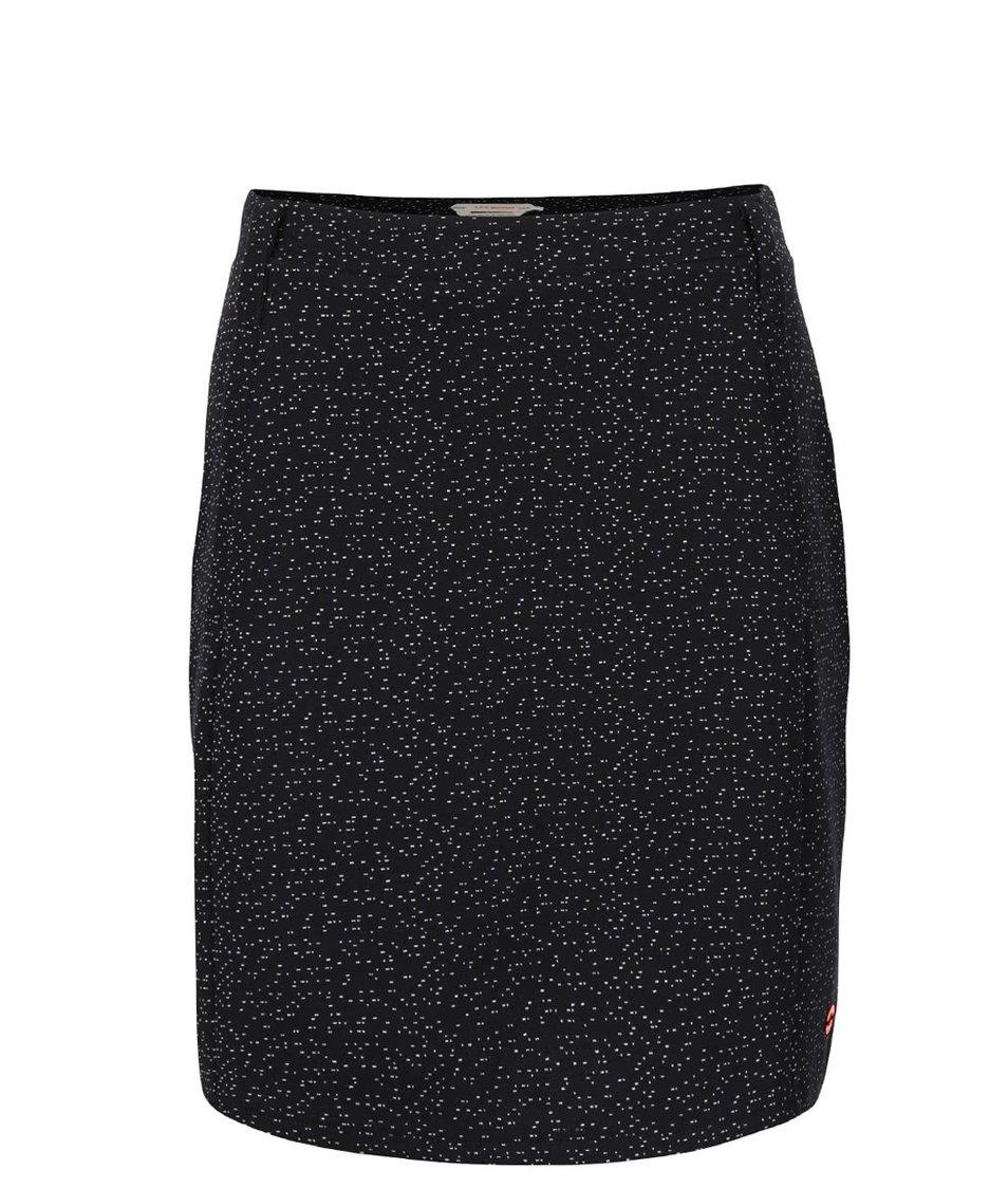 Černá vzorovaná sukně s kapsami Skunkfunk Matilda