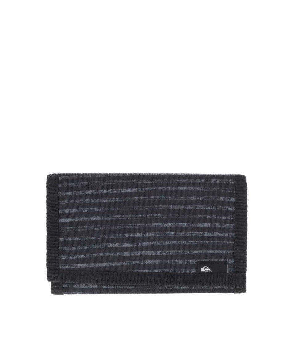Černá pánská vzorovaná peněženka Quiksilver Reception