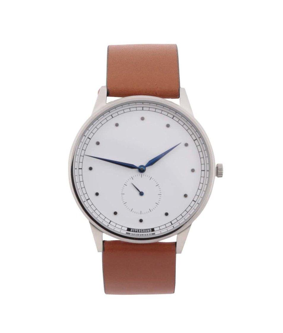 Světle hnědé pánské kožené hodinky  HYPERGRAND