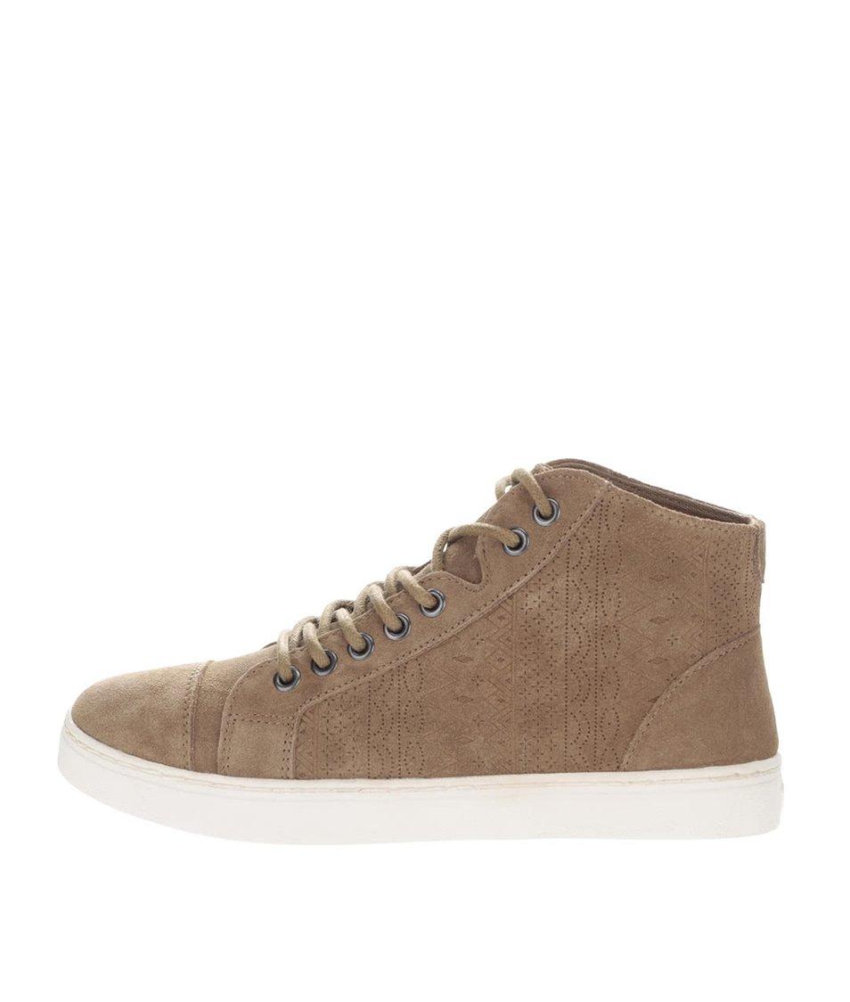 Hnědé kotníkové semišové boty Roxy Melbourne