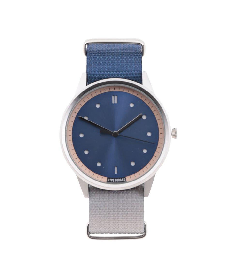 Modro-šedé pánské hodinky s modrým ciferníkem HYPERGRAND
