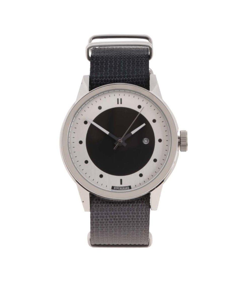 Šedé pánské hodinky s masivním ciferníkem  HYPERGRAND