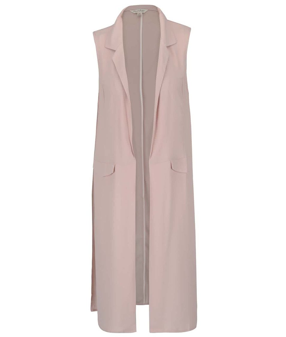 Růžová dlouhá vesta Miss Selfridge