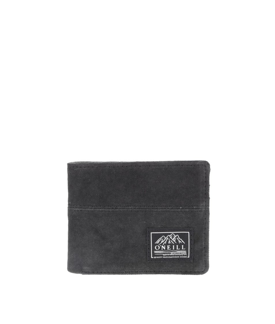 Černá pánská peněženka s černými detaily O'Neill Point Break