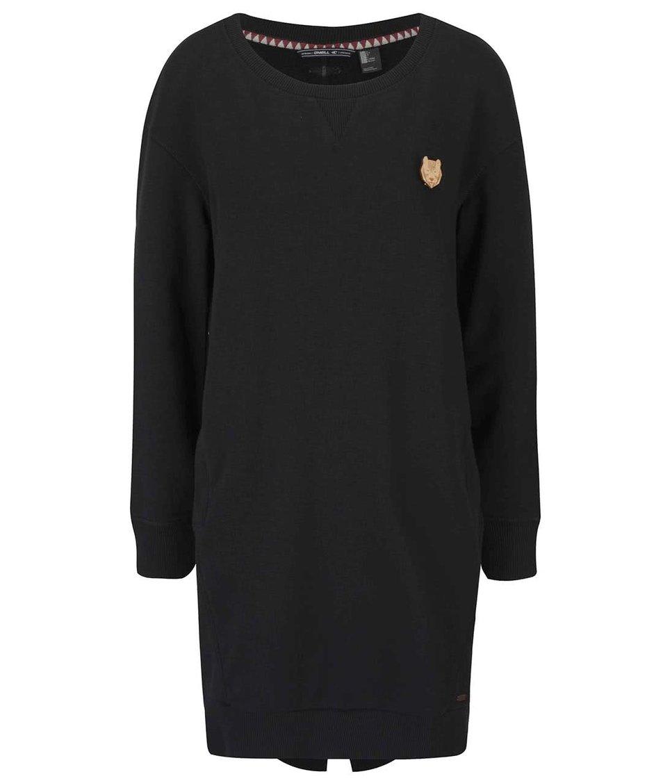 Černé dámské mikinové šaty s dlouhým rukávem O'Neill Sweat