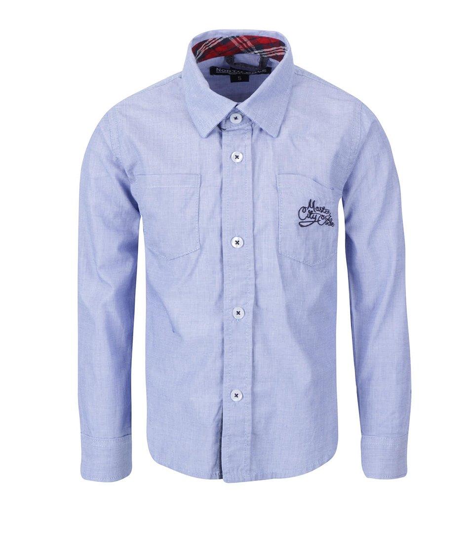 Modrá klučičí košile s károvanými detaily North Pole Kids