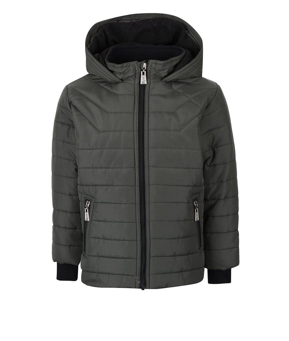Khaki klučičí prošívaná bunda s kapucí North Pole Kids