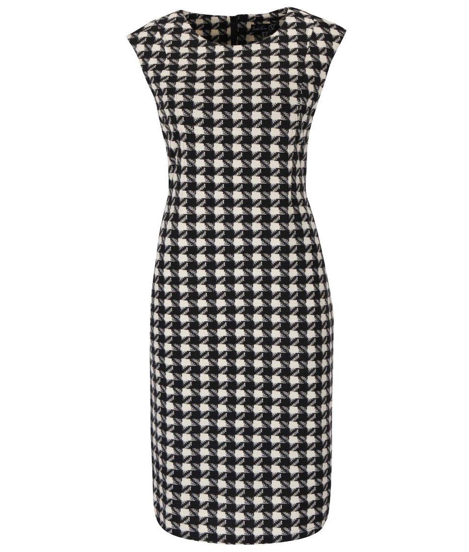 Krémovo-černé kostkované šaty bez rukávů Smashed Lemon
