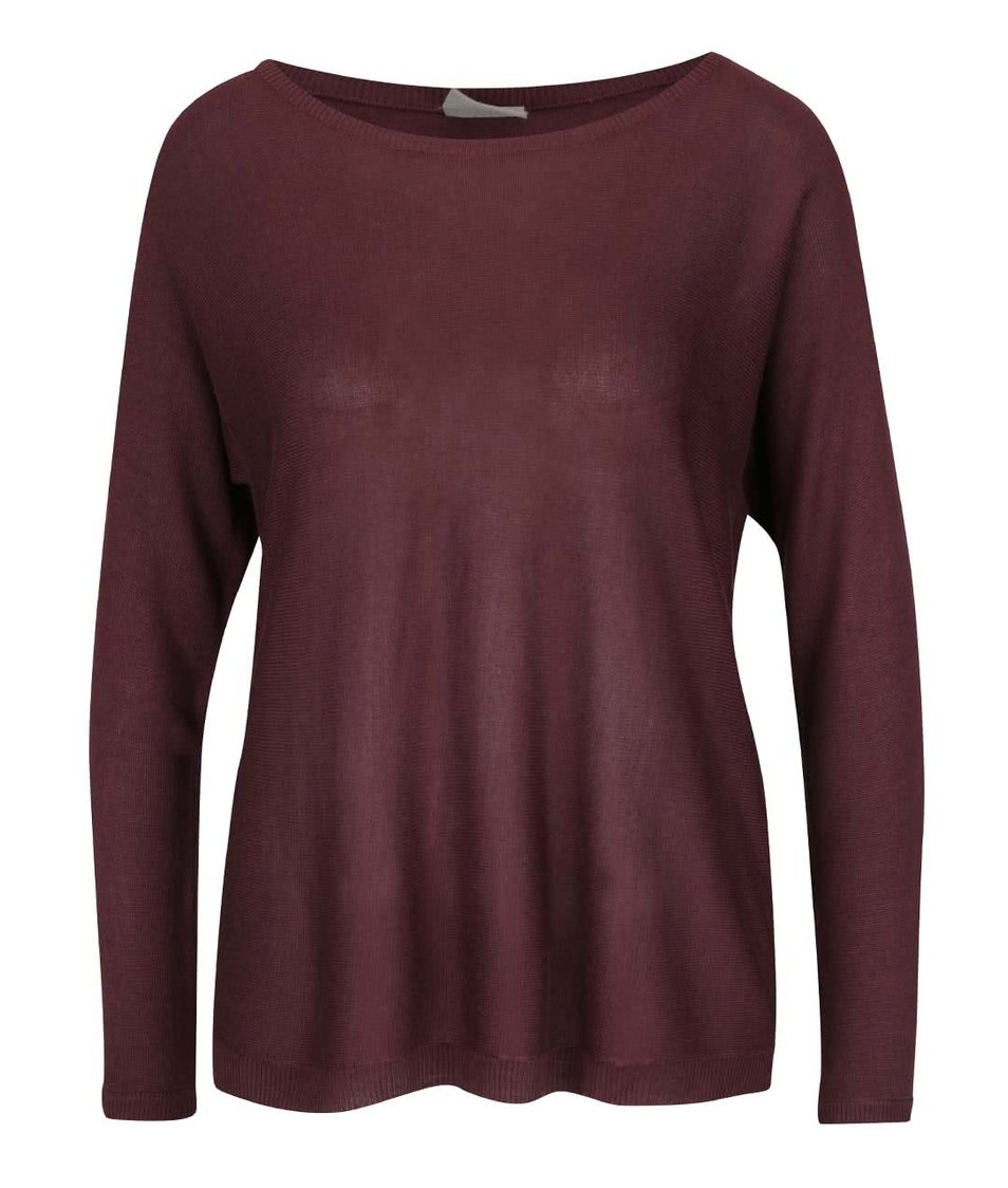 Fialovohnědý lehký svetr Vero Moda Rubi