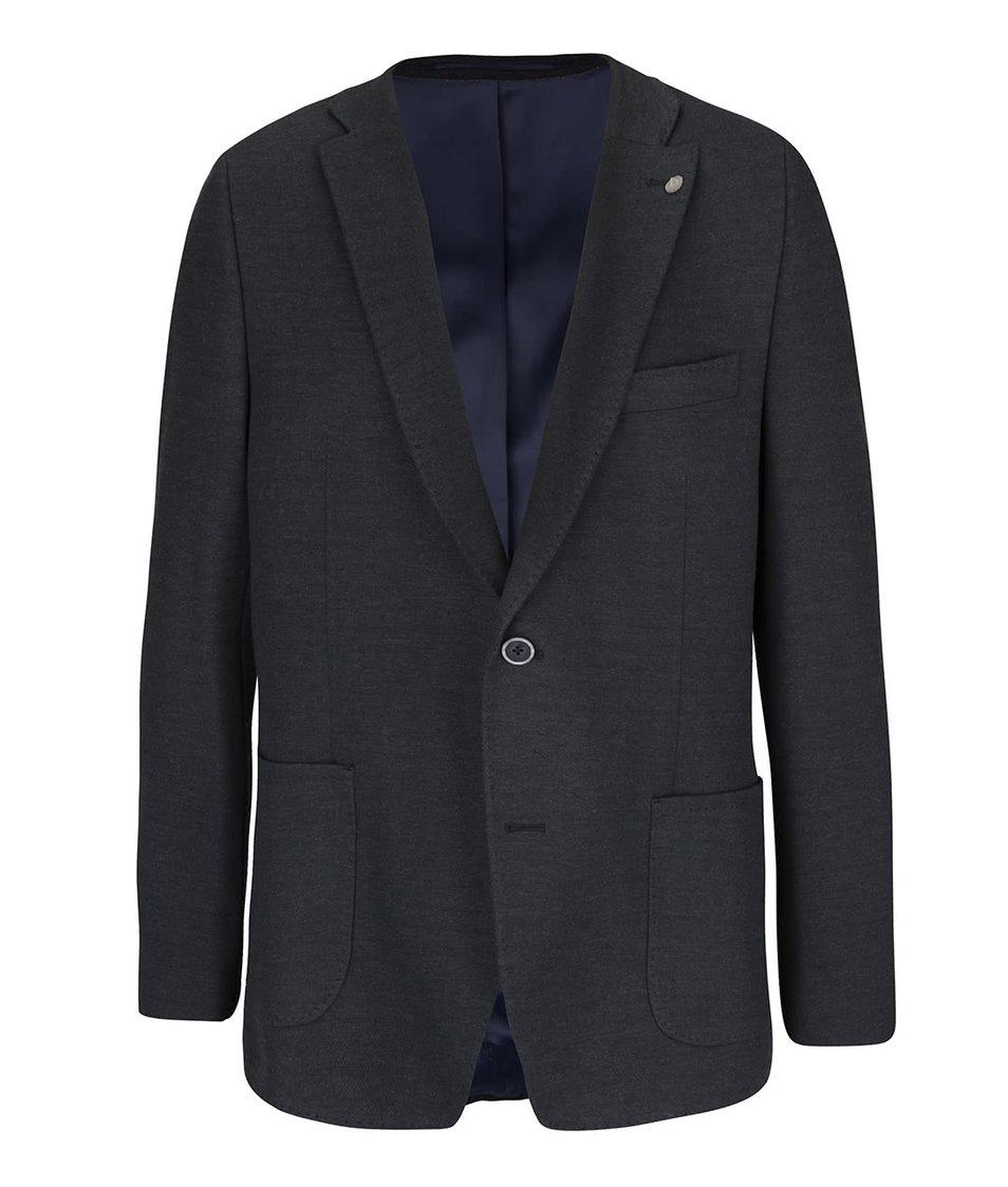 Modročerný pánský blazer bugatti