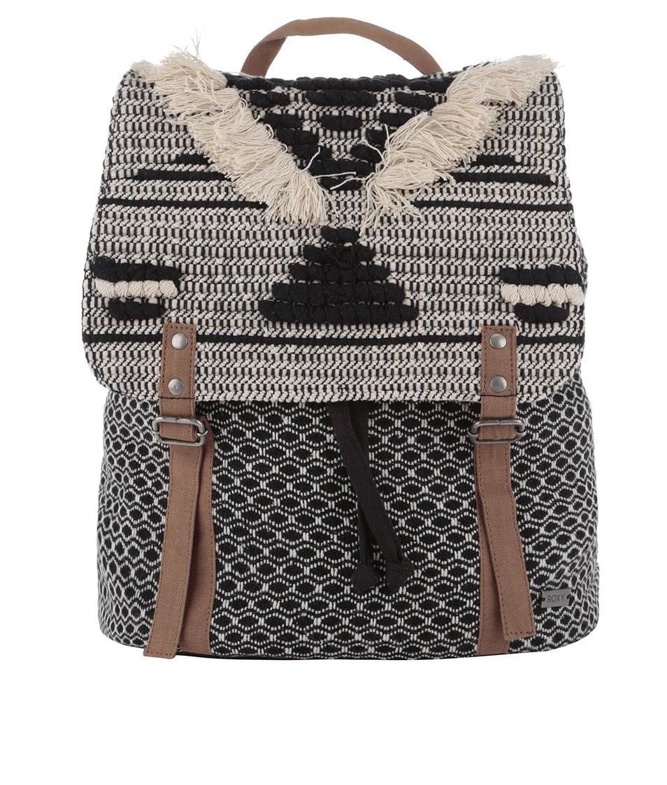 Krémovo-černý batoh Roxy Savanna