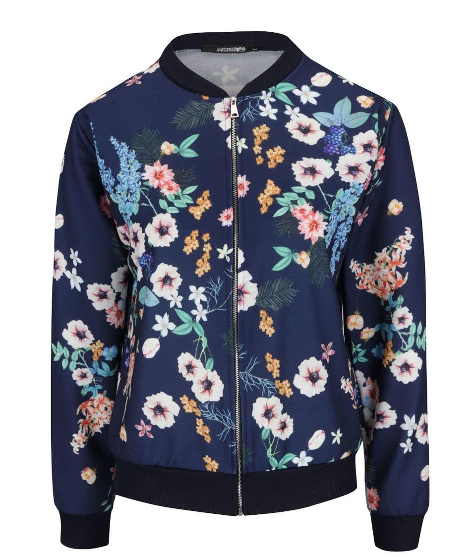 Tmavě modrý bomber s květinovým vzorem Haily´s Nicky
