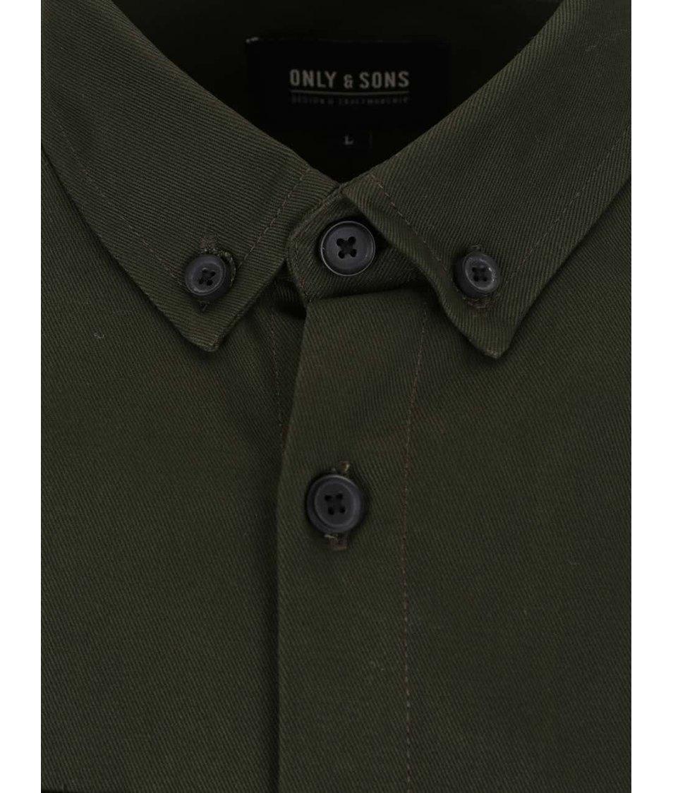 Tmavě zelená lehká bunda ONLY & SONS Utility