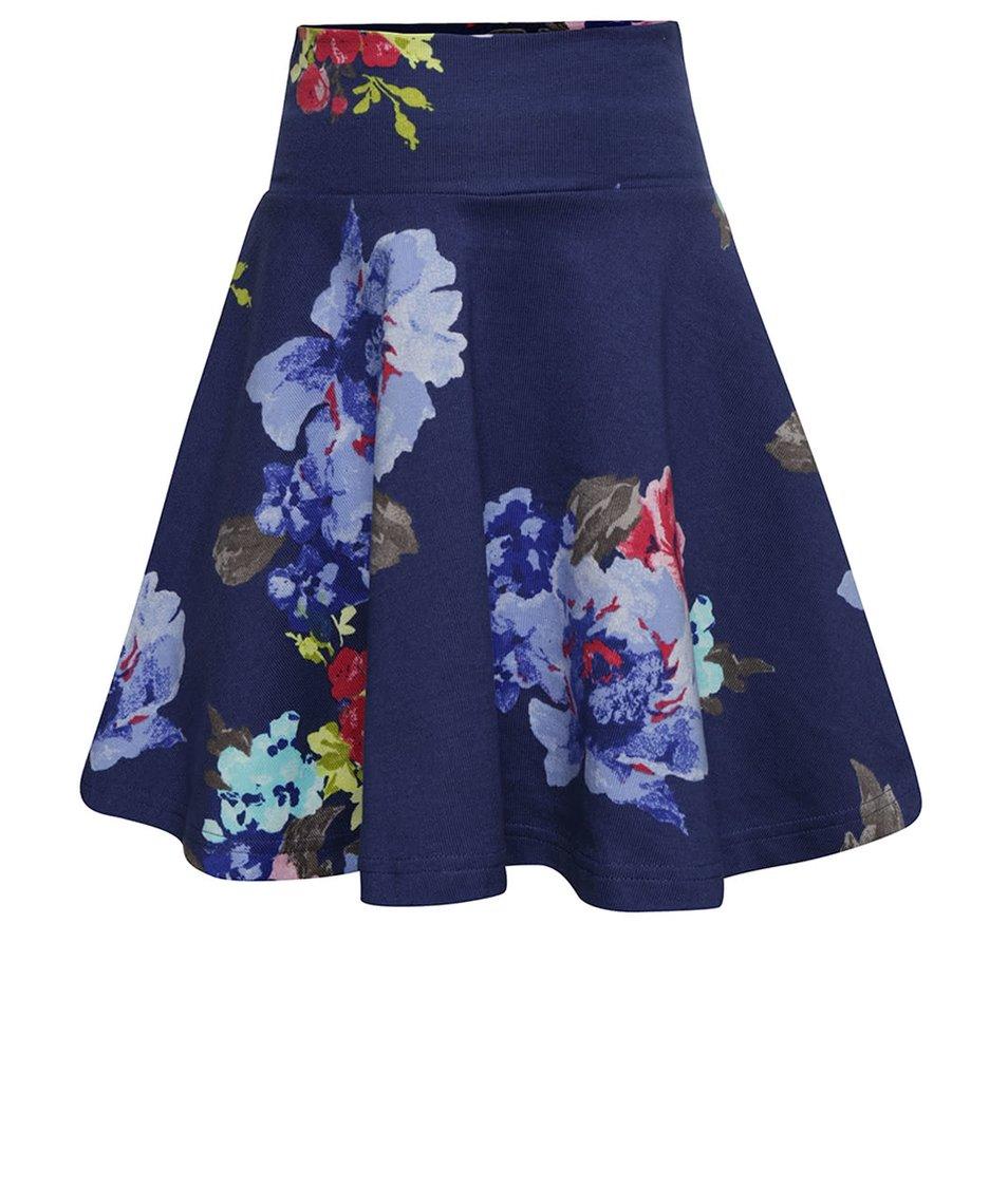Tmavě modrá holčičí sukně s květy Tom Joule Jen