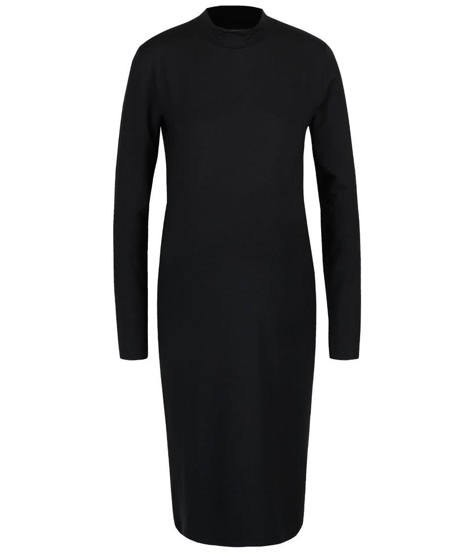 Čierne rolákové tehotenské šaty Mama.licious Petit