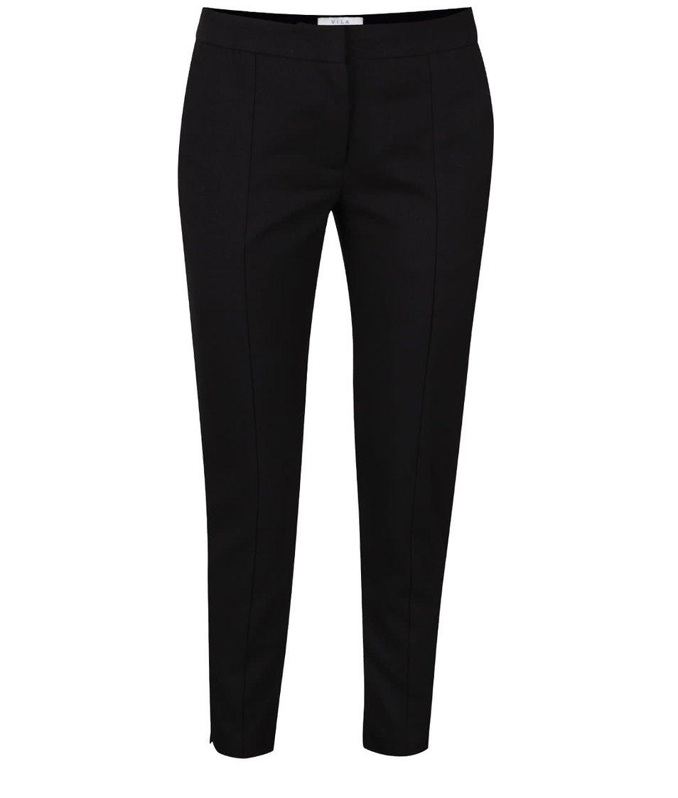 Černé osminkové kalhoty VILA