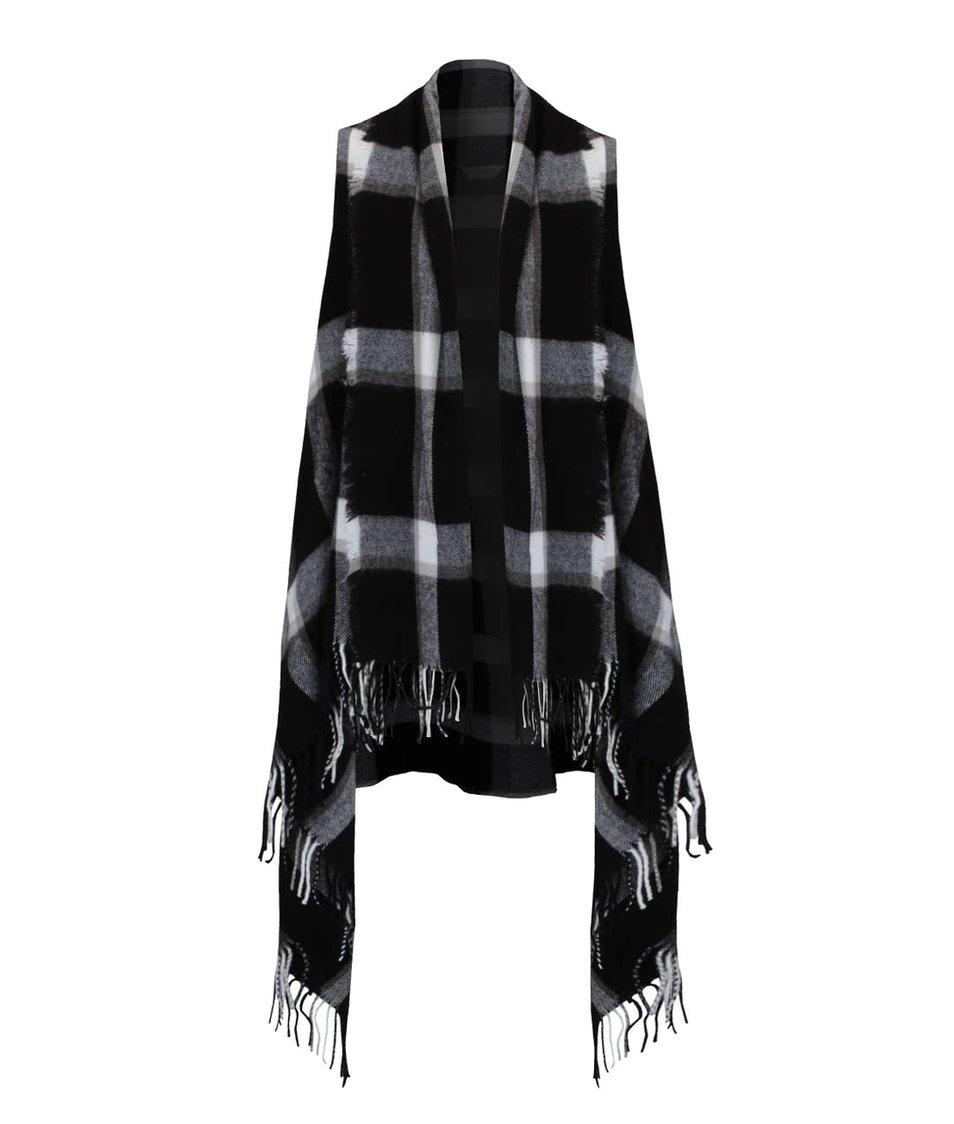 Černo-bílá vzorovaná vesta Miss Selfridge