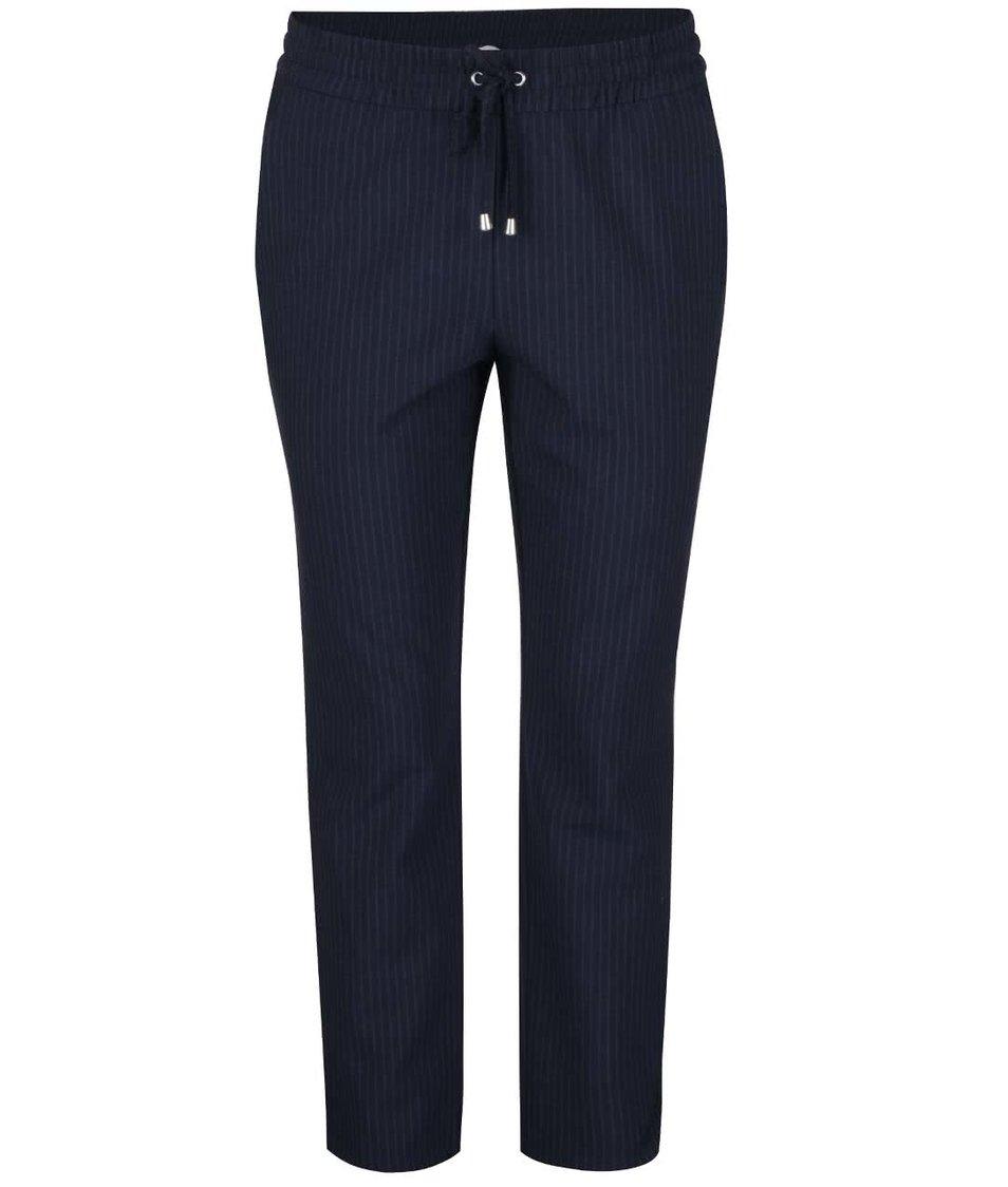 Tmavě modré pruhované kalhoty ONLY Poppy