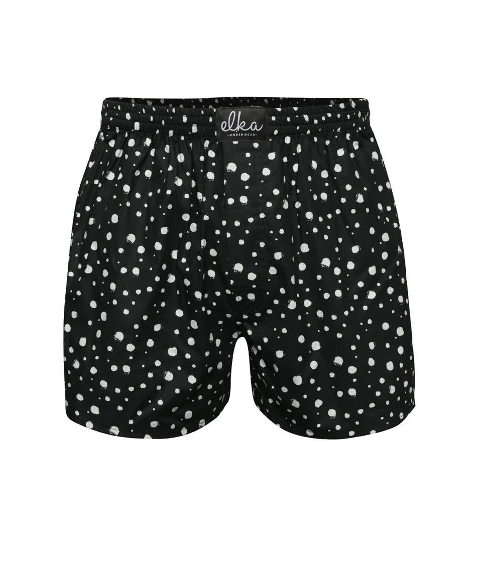 Černé pánské trenýrky s potiskem El.Ka Underwear
