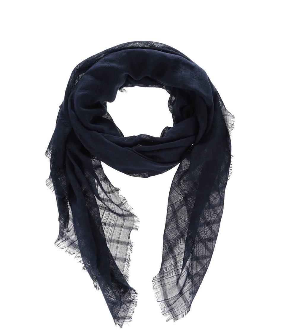 Tmavě modrý šátek s metalickým vláknem Dorothy Perkins