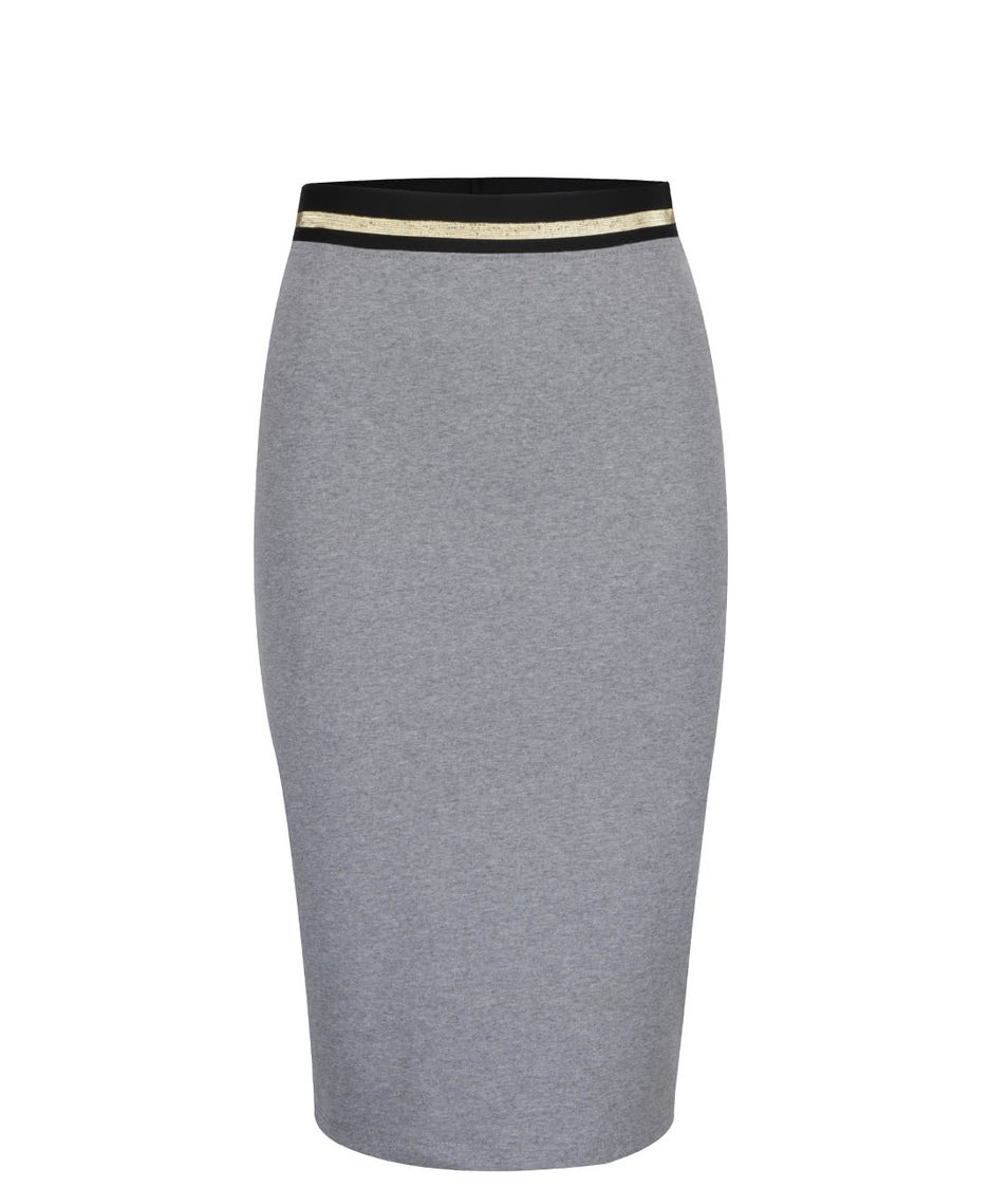 Šedá přiléhavá sukně s pružnou gumou v pase ZOOT