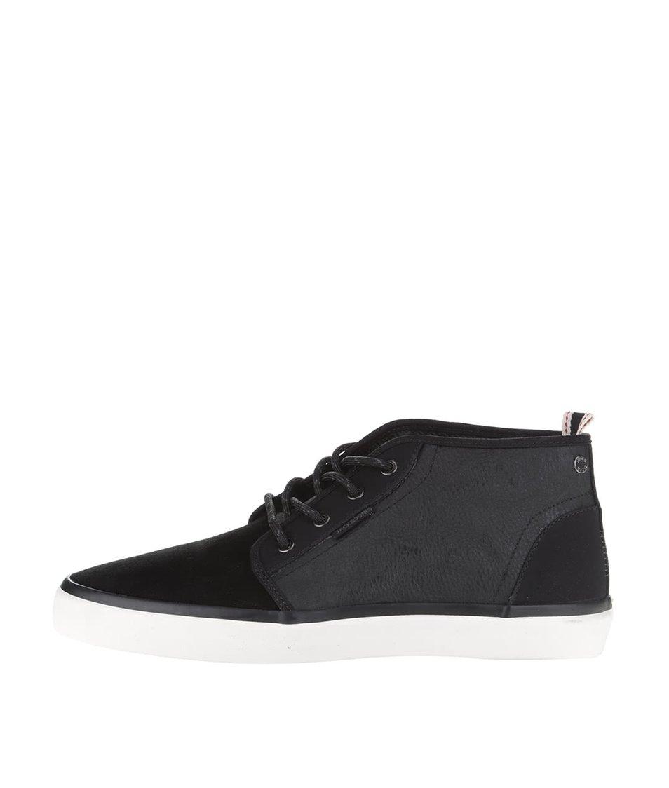 Černé semišové kotníkové boty Jack & Jones Major