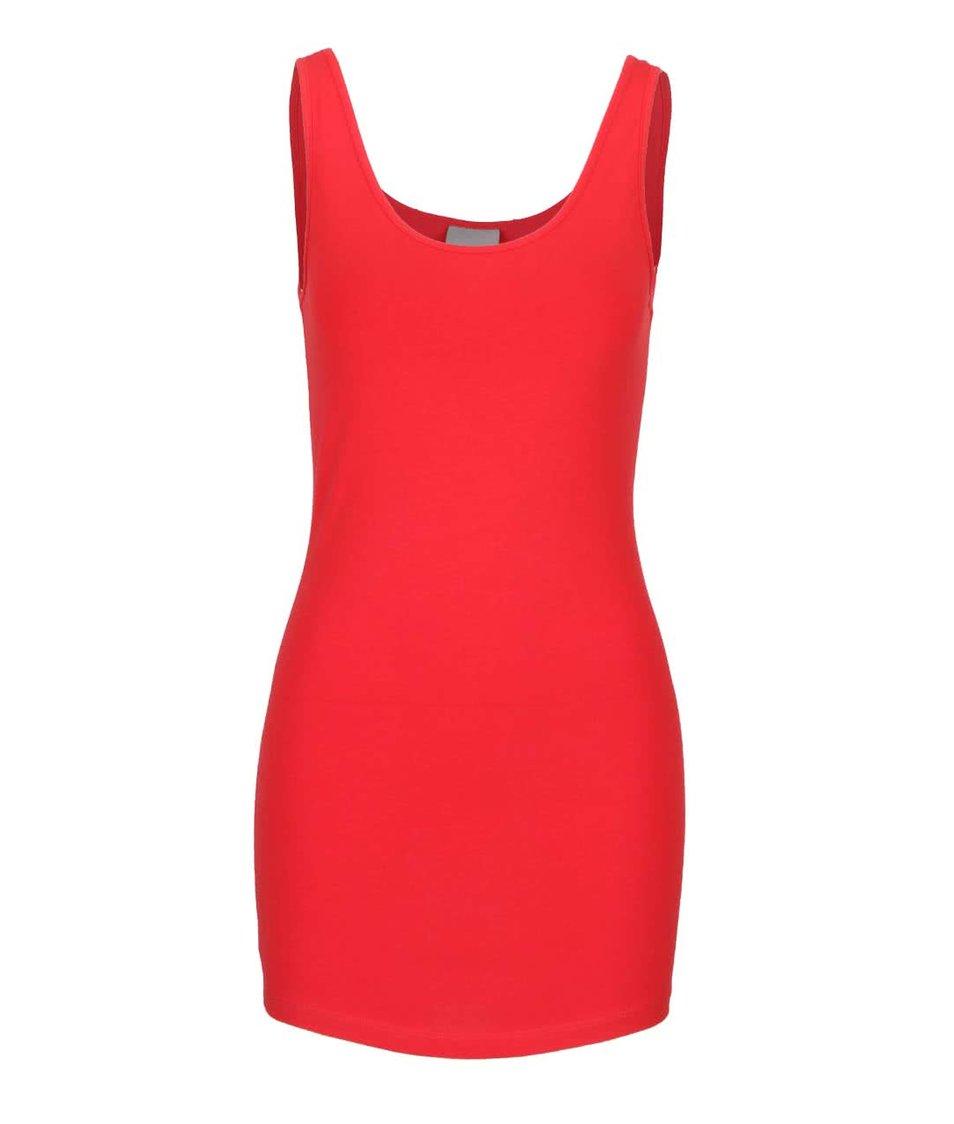 Červené tílko Vero Moda Maxi