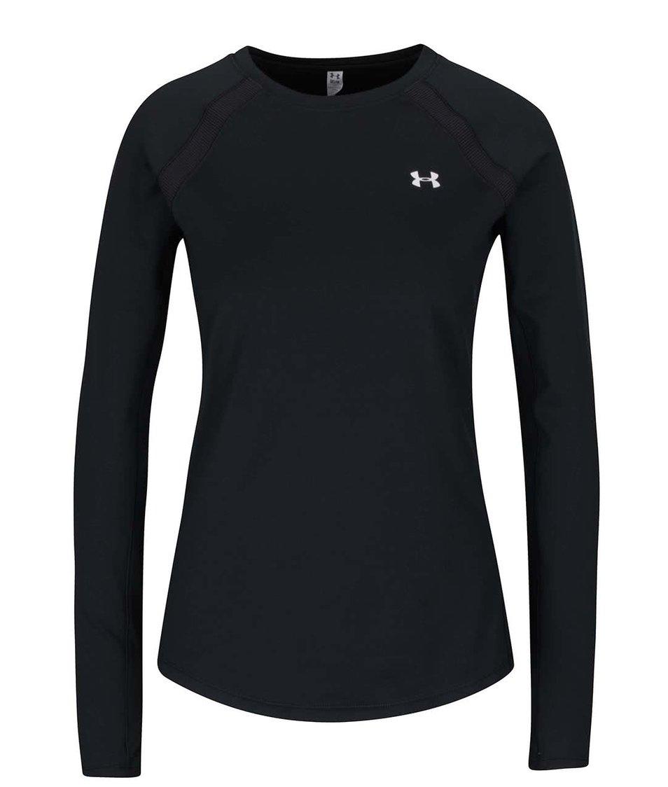 Černé dámské funkční tričko s dlouhým rukávem Under Armour ColdGear Armour Crew