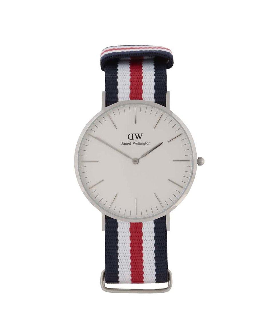Červeno-modré pánské hodinky CLASSIC Cantebury Daniel Wellington