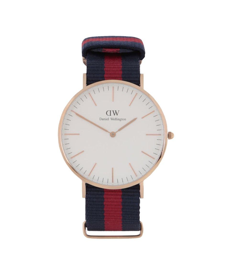 Vínovo-modré pánské hodinky CLASSIC Oxford Daniel Wellington