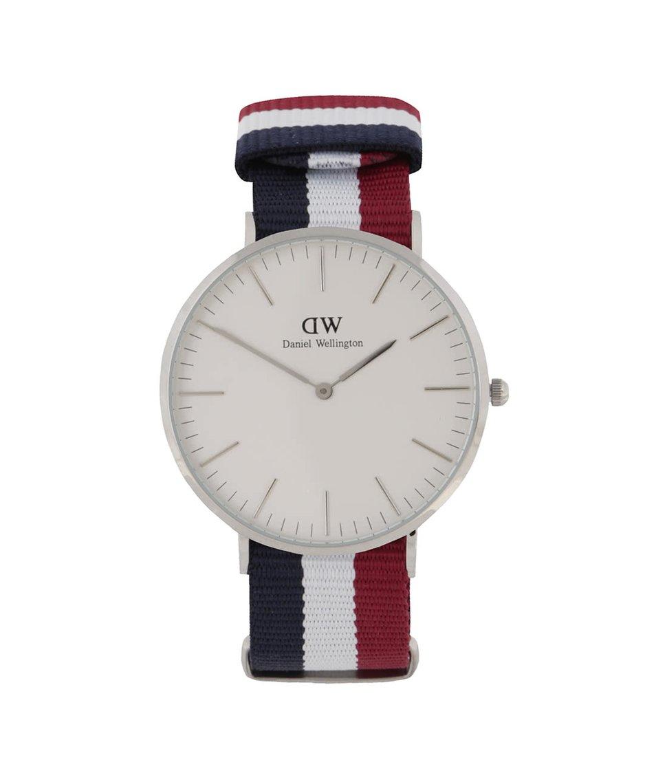 Vínovo-modré pánské hodinky CLASSIC Cambridge Daniel Wellington