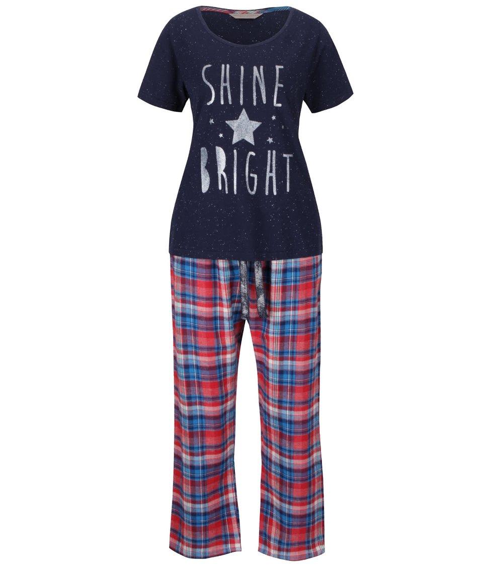 Červeno-modré pyžamo s potiskem Dorothy Perkins